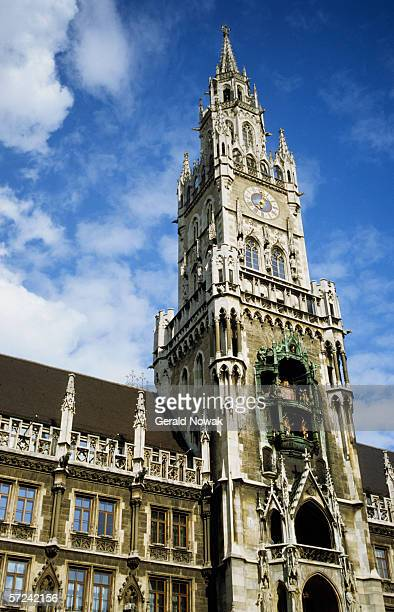 Germany, Bavaria, Munich, New Town Hall, low angle view