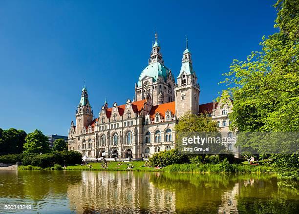 new town hall - hannover - fotografias e filmes do acervo