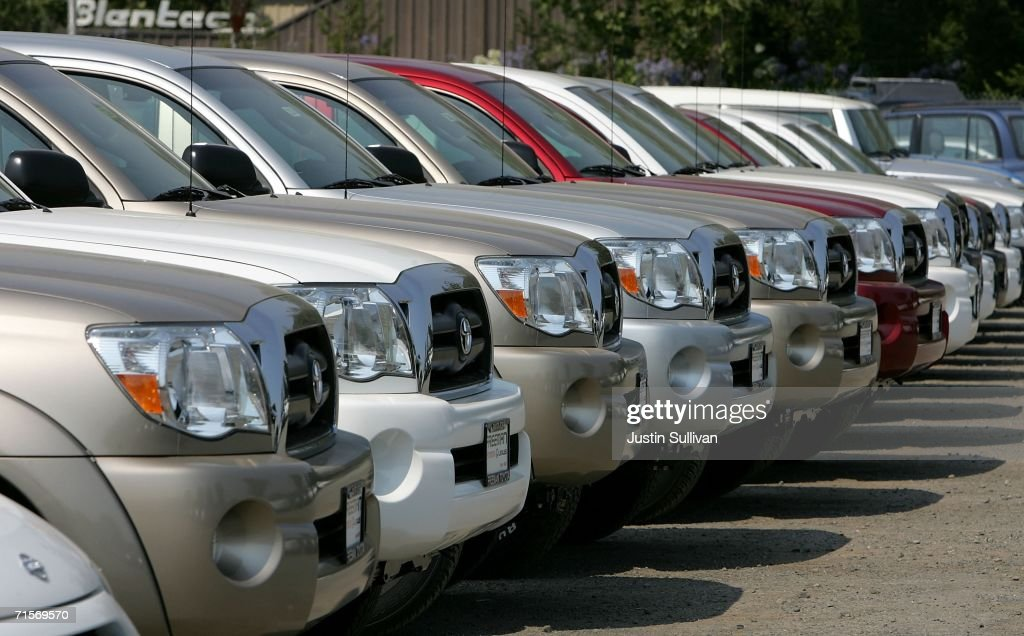 New Toyota Trucks Are Parked On The Lot At Freeman Toyota August 2, 2006 In