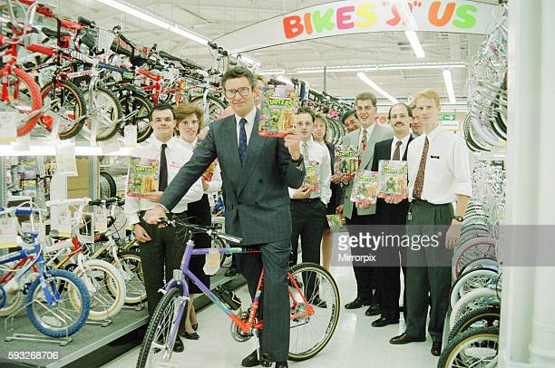 New Toys R Us Shop to open at Teesside Shopping Park, Sandown Way, Stockton on Tees. Pictured, MD of Toys R Us, holds up Teenage Mutant Ninja Turtles...