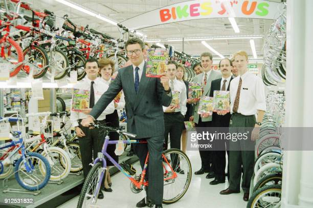 New Toys R Us Shop to open at Teesside Shopping Park Sandown Way Stockton on Tees Pictured MD of Toys R Us holds up Teenage Mutant Ninja Turtles...