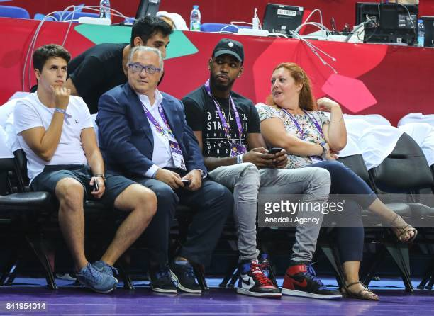 New transfer of Fenerbahce Dogus Jason Thompson follows the FIBA Eurobasket 2017 Group D Men's basketball match between Great Britain and Turkey at...