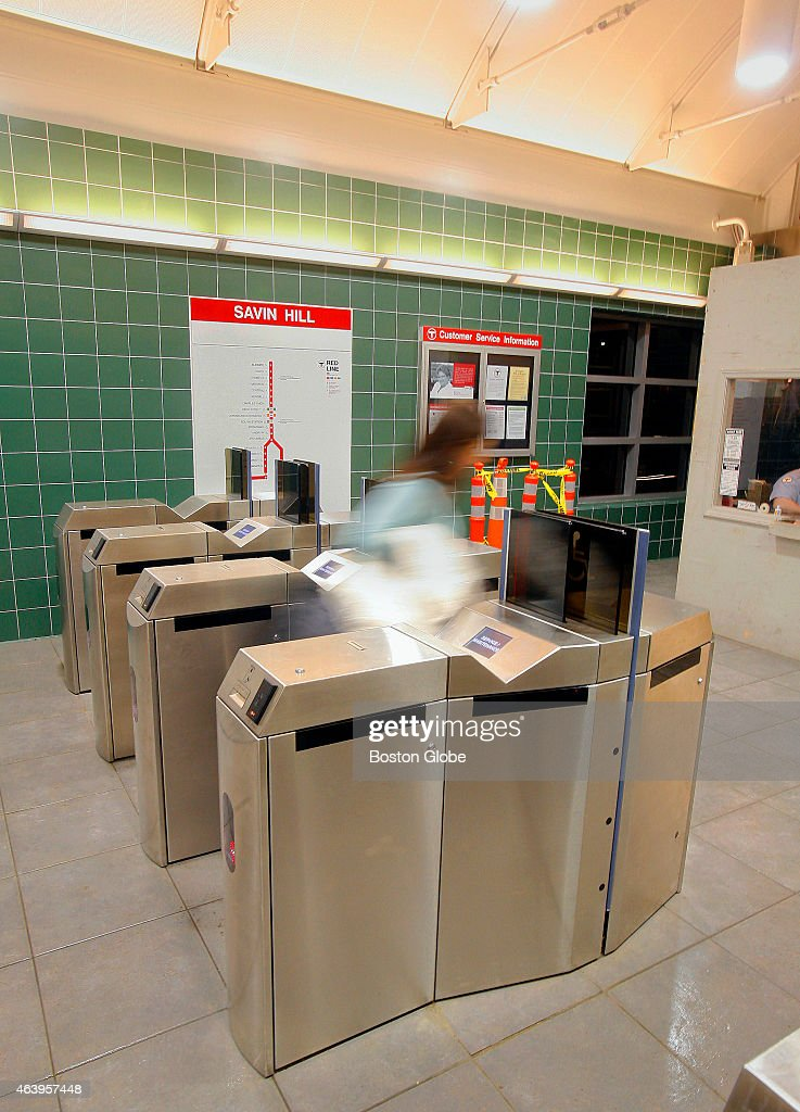 New turnstiles that will take the new MBTA Charlie Card are