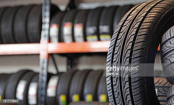 new tyres - tire stock photos and pictures