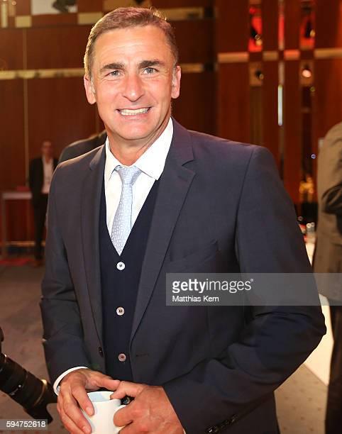 New U21 head coach Stefan Kuntz attends the German League Association meeting on August 24 2016 in Berlin Germany