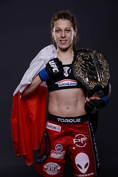 New UFC strawweight champion Joanna Jedrzejczyk poses...