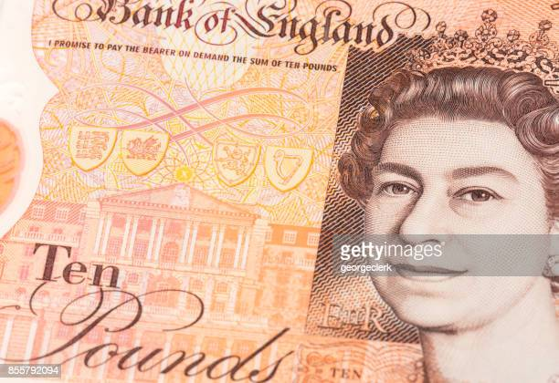 New UK ten pound note with portrait of Queen Elizabeth II