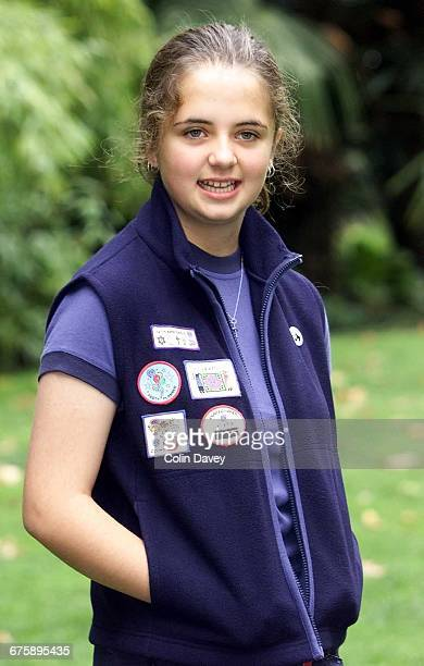 New uniform choices for Girl Guides 19th September 2000 Picture shows Meral Guldren from the 5th Alexander Park Guides Unit wearing a gilet