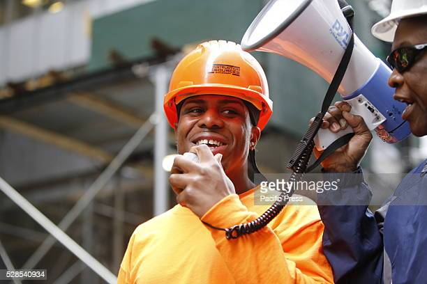 New union member speaks of benefits of trade union membership Members of the building construction trades council of greater New York rallied along...