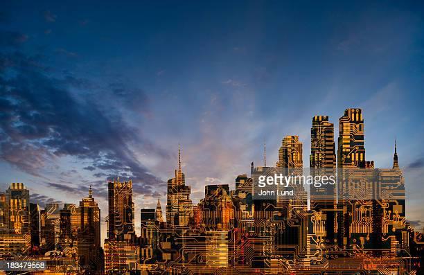 New Urban Technology Skyline