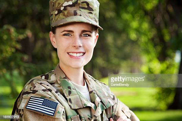 New US Army Multicam Uniform Series: Female American Soldier