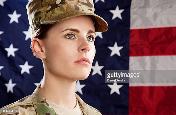 New US Army Multicam Uniform Series: Female American Soldier