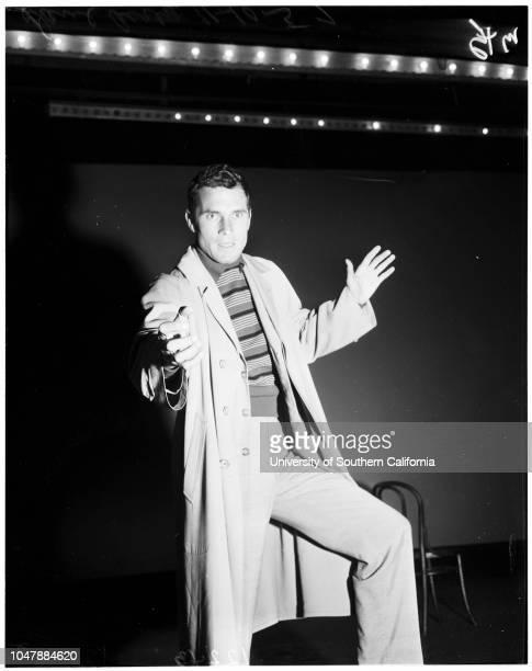 New Vic Theater auditions 10 November 1957 Dave Airey Bob SwoffordPamela RoeRichard GrayForest McPhersonLouis Cabello JuniorMeg BrownFrank MarshHarry...
