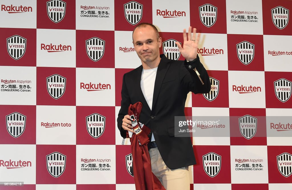 Vissel Kobe Introduces New Player Andres Iniesta