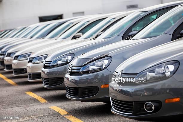 New Volkswagen Vehicles in a Row