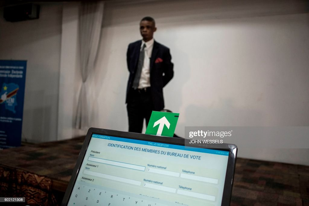 DRCONGO-ELECTION-VOTE-MAHICNES : News Photo