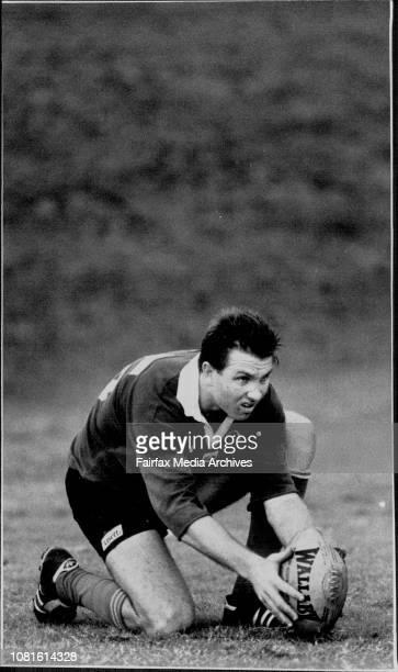 New Wallaby Greg Martin at training last night June 28 1989