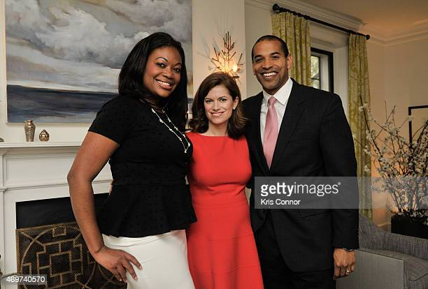 New Washington DC Editor Giovanna Gray Lockhart and guests attend a reception to honor Lockhart as the new Glamour Washington DC Editor at a private...