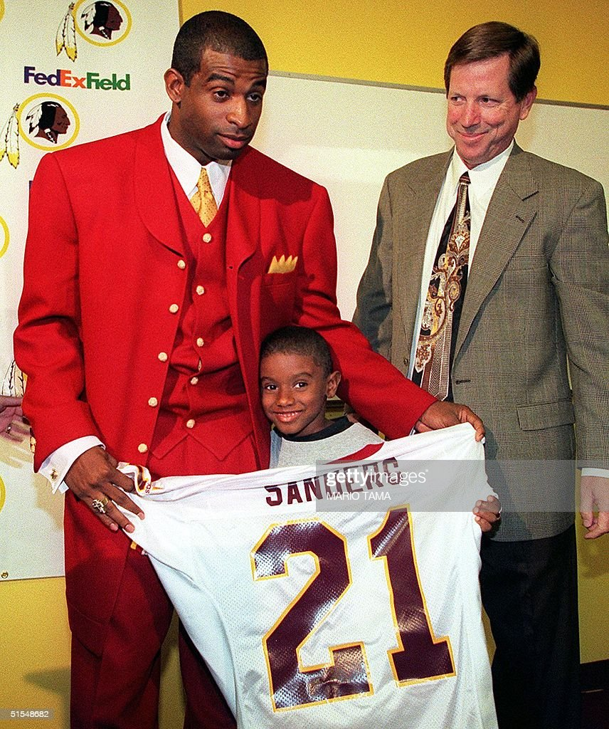 separation shoes 0f04e f6717 New Washington Redskin cornerback Deion Sanders shows off ...