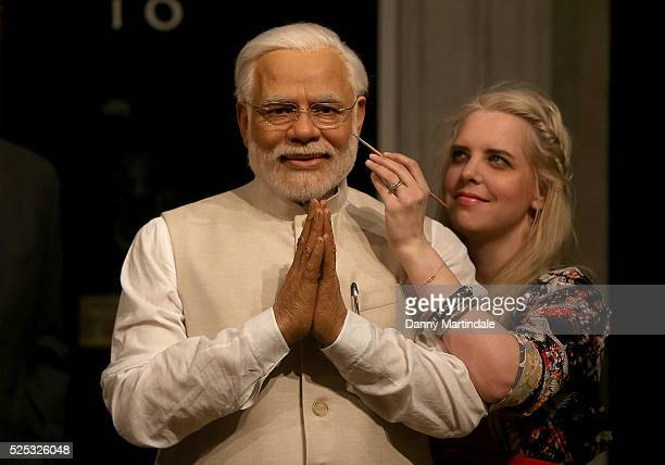 New wax figure of Narendra Modi joins world leaders at Madame Tussauds on April 28, 2016 in London, England.
