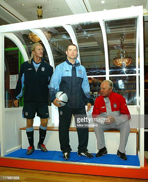 New wax figures of David Beckham Michael Owen and Sven Goran Eriksson England manager