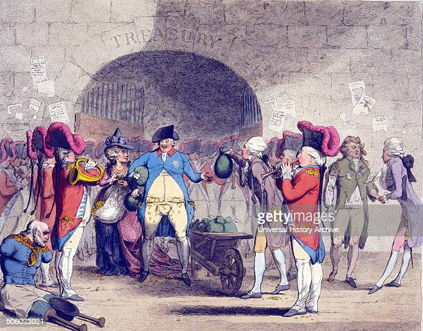 New way to pay the nationaldebt designed by Helagabalis executed by Sejanus Caricature by James Gillray 17561815 artist 1786 Cartoon shows King...