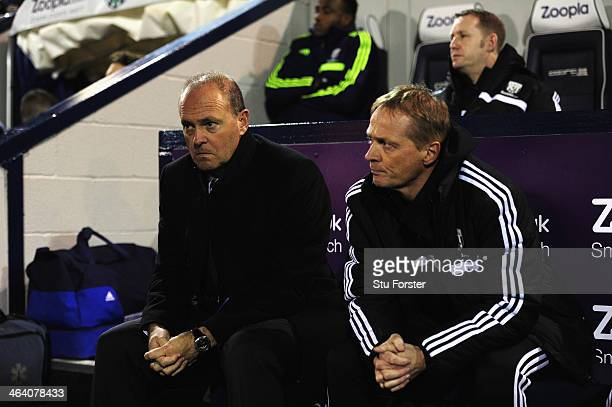 New West Brom manager Pepe Mel takes his seat before the Barclays premier league match between West Bromwich Albion and Everton at The Hawthorns on...