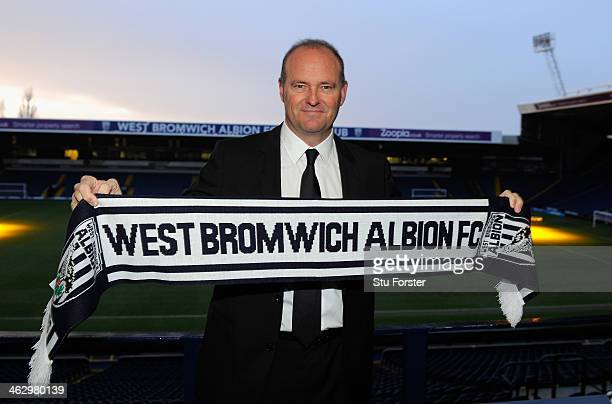 New West Bromwich Albion manager Pepe Mel faces the media before the press conference to announce his arrival at The Hawthorns on January 16 2014 in...