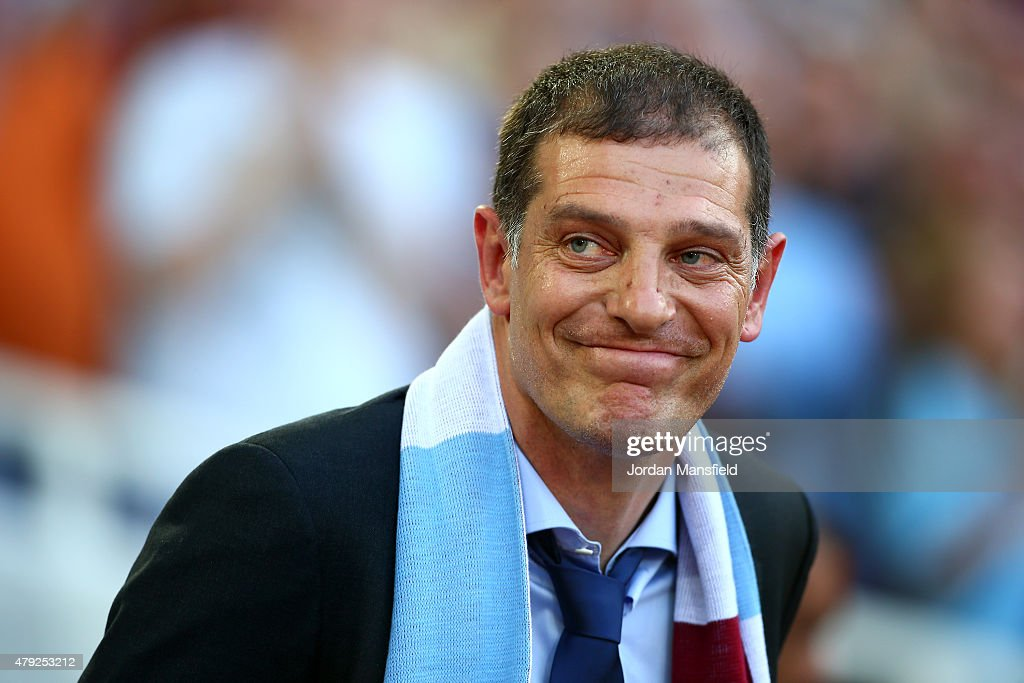 New West Ham manager Slaven Bilic looks on during the UEFA Europa League match between West Ham United and FC Lusitans at Boleyn Ground on July 2, 2015 in London, England.