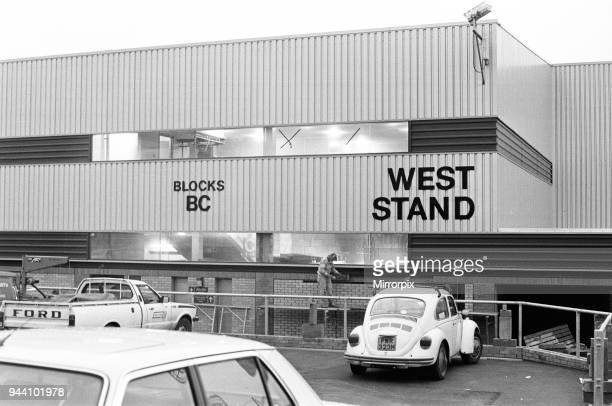 New West Stand at Valley Parade home of Bradford City FC 8th December 1986