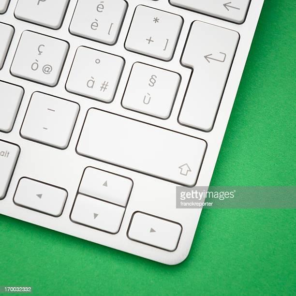 Novo teclado branco