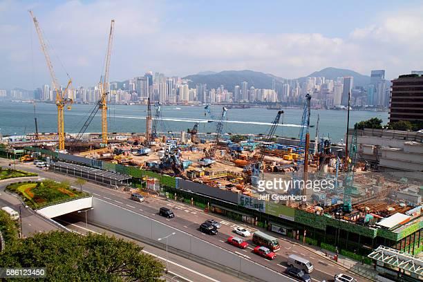 New World Centre, construction site, Victoria Harbor.