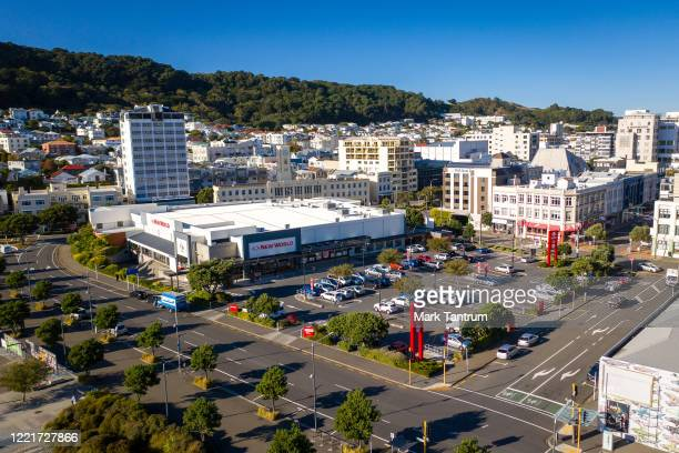 New World City with reduced cars in the parking lot on April 29 2020 in Wellington New Zealand New Zealand's lockdown measures were eased slightly as...
