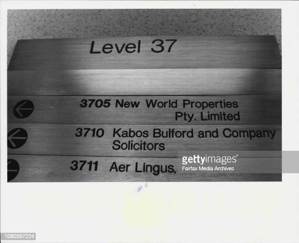 New World Properties level 37 MLC Center Martin PlThe company is run by Warren Anderson February 24 1984