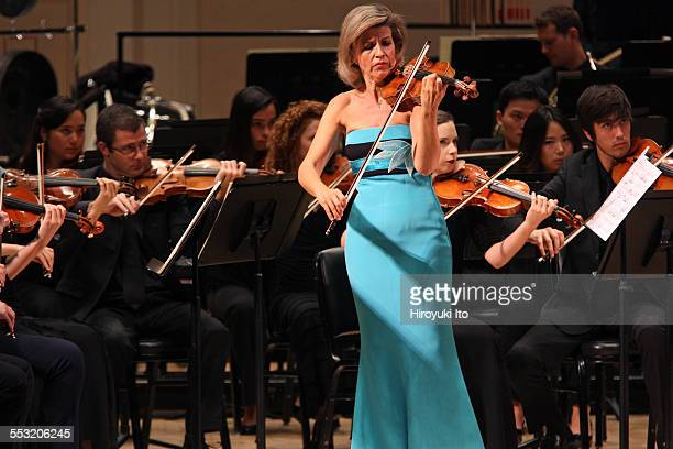 New World Symphony performing at Carnegie Hall on Tuesday night April 28 2015This imageAnneSophie Mutter performing Norbert Moret's En reve with the...