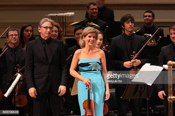 New World Symphony performing at Carnegie Hall on Tuesday night April 28 2015This imageAnneSophie Mutter performed Norbert Moret's 'En reve' with the...