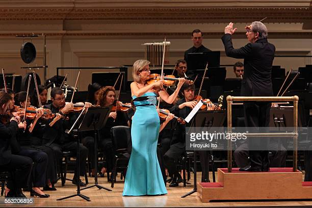 New World Symphony performing at Carnegie Hall on Tuesday night April 28 2015This imageAnneSophie Mutter performing Norbert Moret's 'En reve' with...
