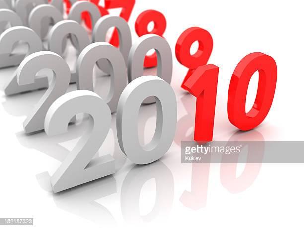 Neue Jahr 2010 und alten 2009,2008.