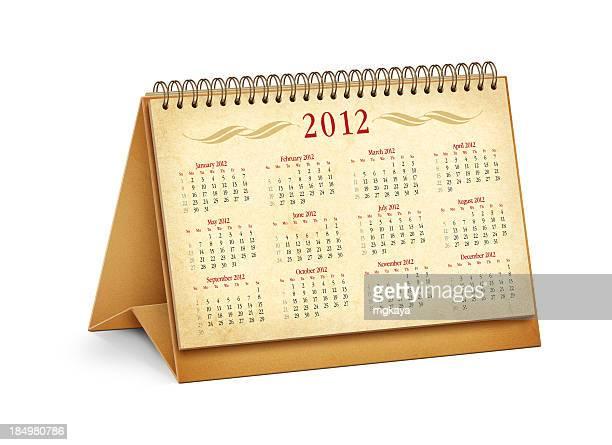New Year 2012 Desktop Calendar