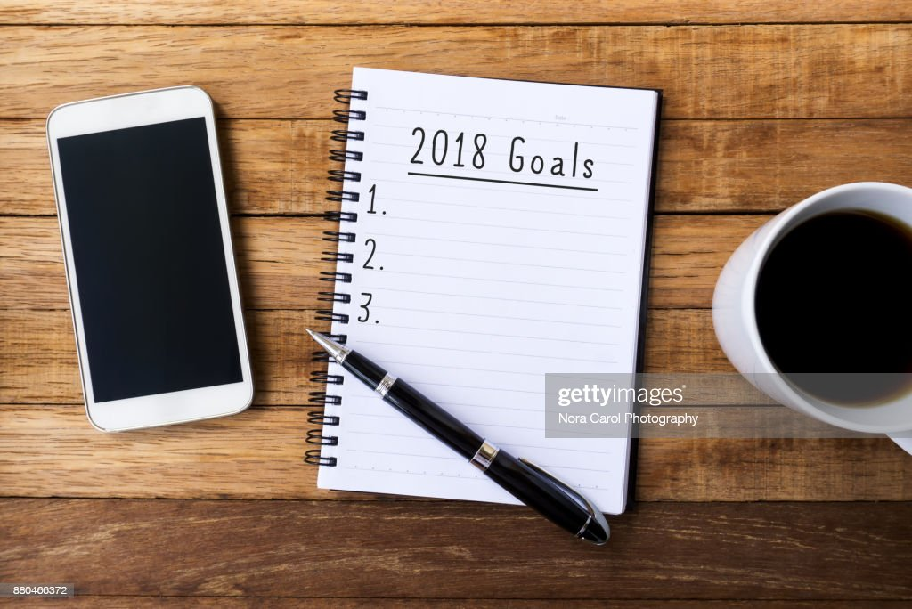 New Year 2018 Goals : Stock Photo