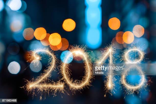 new year 2018 - 2018 stock pictures, royalty-free photos & images