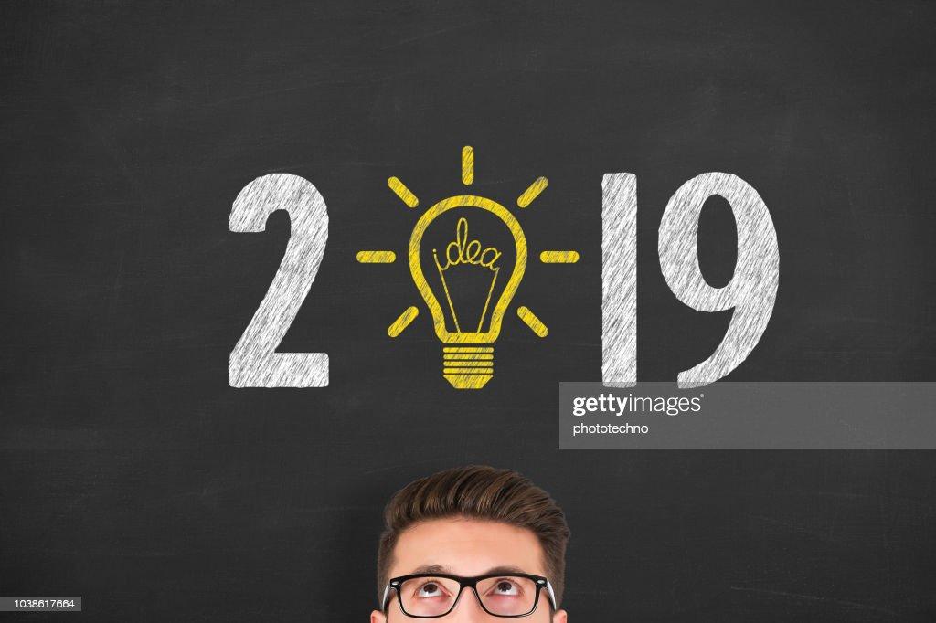 New Year 2019 Idea Concepts : Stock Photo