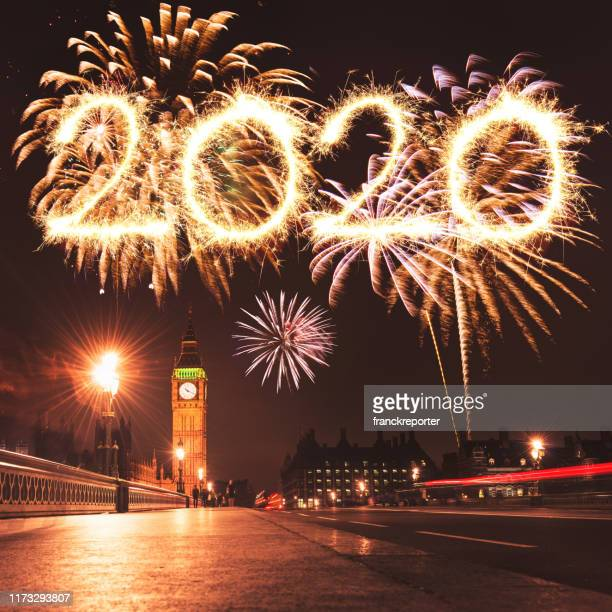 new year 2020 in london - 2020 stock pictures, royalty-free photos & images