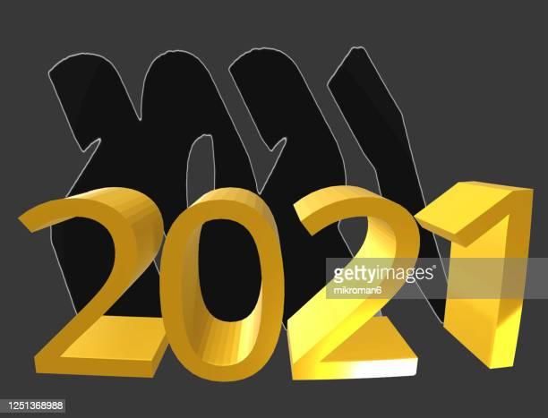 new year 2021, 3d concept - 新年レセプション ストックフォトと画像