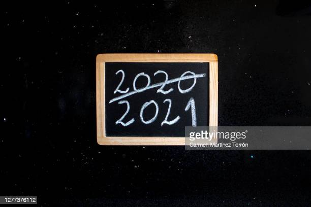 new year 2021 concept. - the end stock pictures, royalty-free photos & images