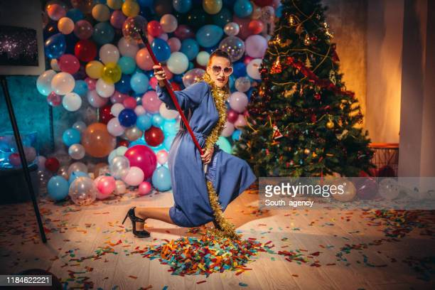 new year after party mess - cleaning after party stock pictures, royalty-free photos & images