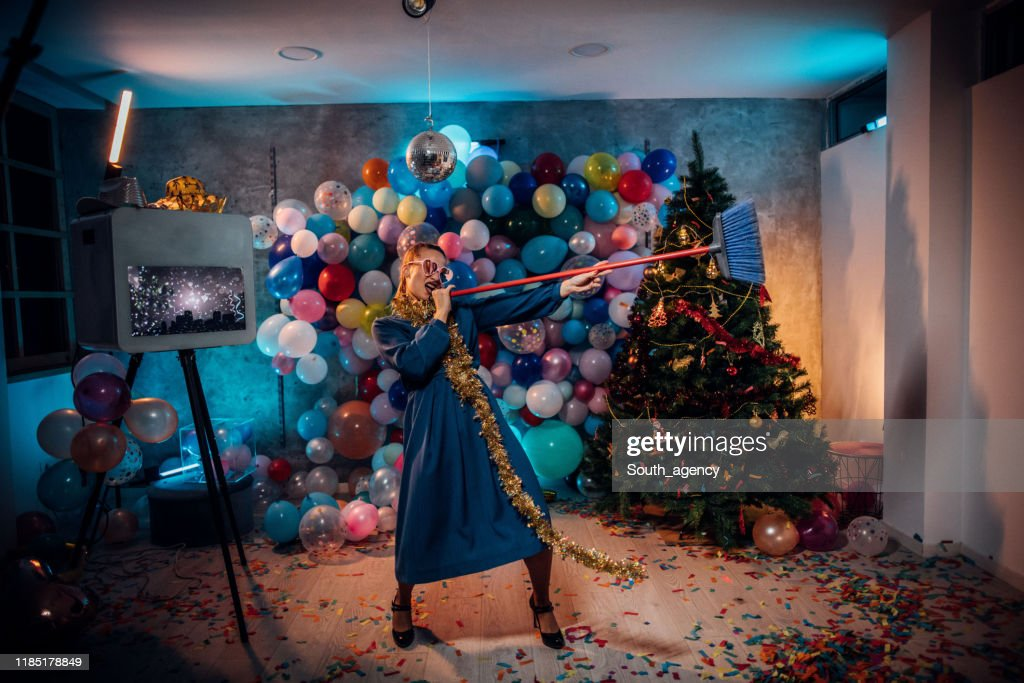 New year after party mess : Stock Photo
