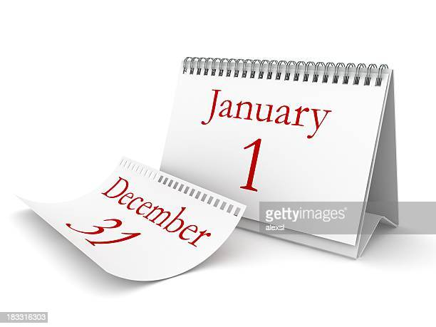 new year calendar - the end stock pictures, royalty-free photos & images