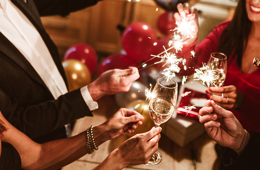 new year celebration with champagne 1057437600