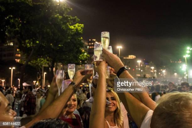 New Year celebrations on Copacabana beach